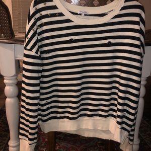 Splendid Distressed, fashion sweatshirt